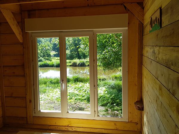 Baie vitrée chambre