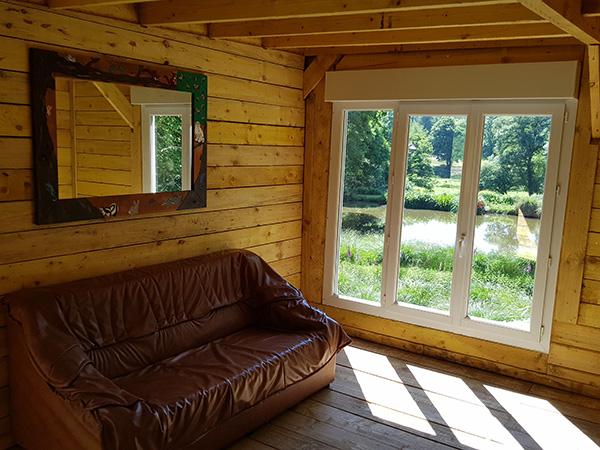 Intérieur chalet nature hall